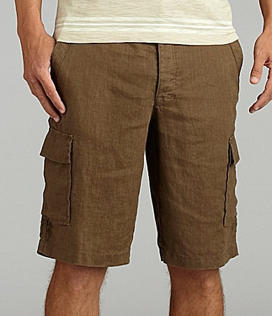 Perry Ellis Linen Cargo Shorts