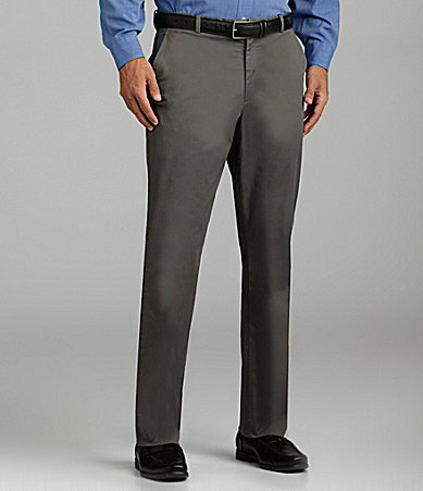 Perry Ellis Flat-Front Twill Pants