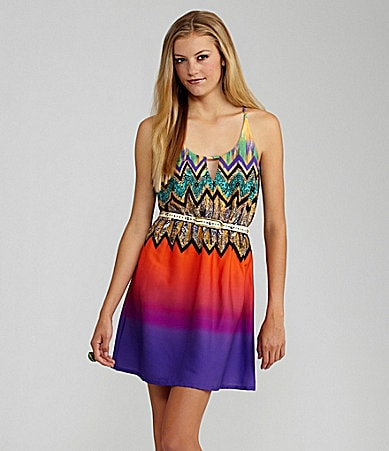 GB Printed Ombre Dress