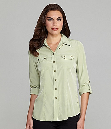 TanJay Collared Button-Front Shirt