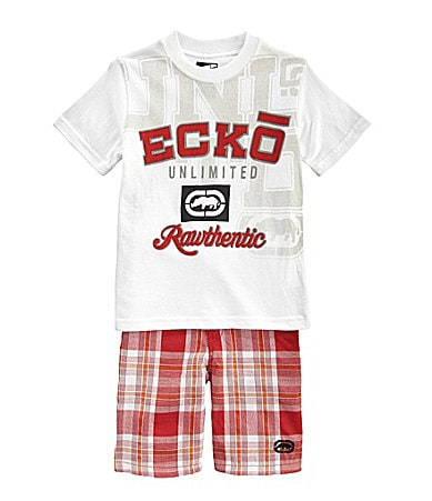 Ecko 2T-7 Tee & Plaid Shorts Set