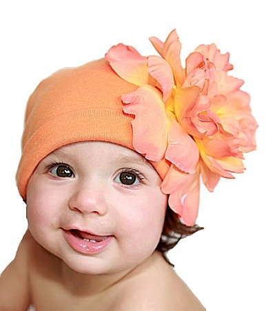 Jamie Rae Hats Infant Peony-Detail Hat