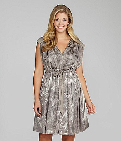 Jessica Simpson Woman Ribbon Drawstring-Waist Dress