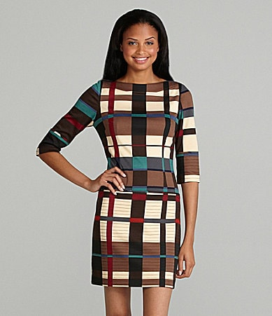 Jessica Simpson Woman Tartan Shift Dress