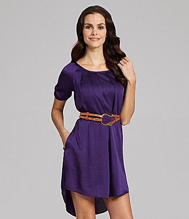 Jessica Simpson Scoopneck Hi-Low Dress