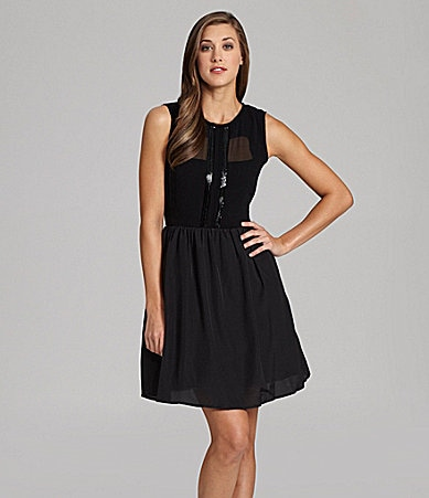 Jessica Simpson Chiffon Party Dress