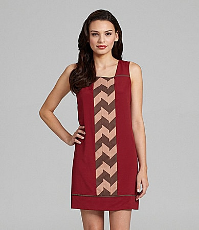 Jessica Simpson Print-Front Shift Dress