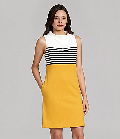 Jessica Howard Sleeveless Ponte Sheath Dress