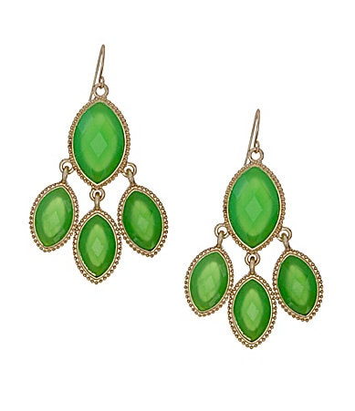 Natasha Accessories Trio Drop Chandelier Earrings