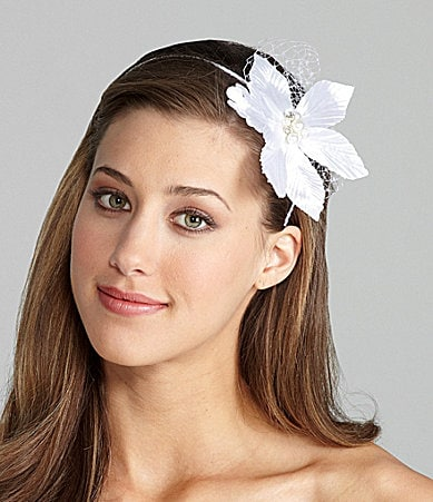 Giovannio Beaded Flower Headband with Veil
