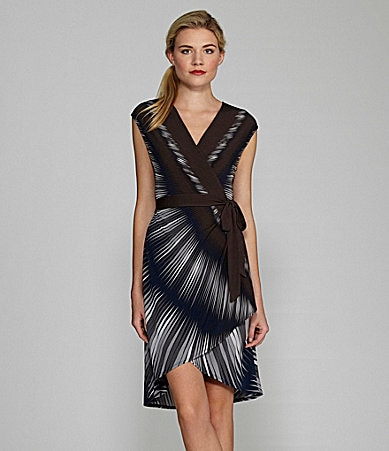 Max and Cleo Julia Faux-Wrap Dress