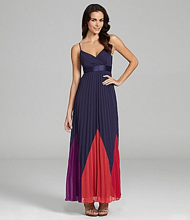 Max and Cleo Naomi Colorblock Evening Dress