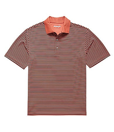 Roundtree & Yorke Big & Tall Performance Stripe Polo Shirt