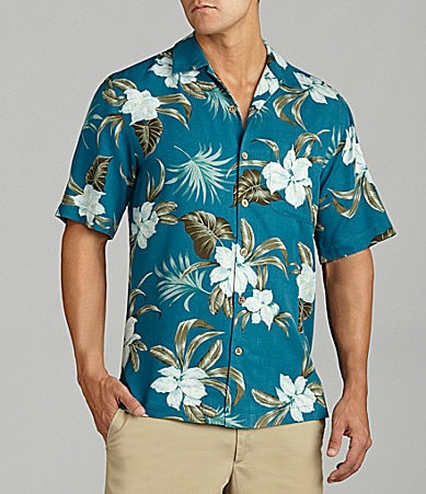 Caribbean Big & Tall  Floral Leaf Print Shirt