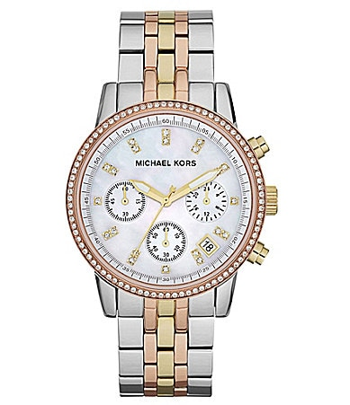 Michael Kors Ritz Tricolor Chronograph Watch