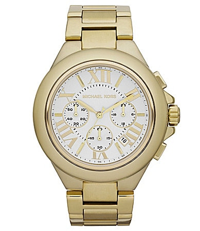 Michael Kors Camille Goldtone Chronograph Watch