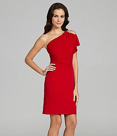 Cachet Single Cold-Shoulder Dress