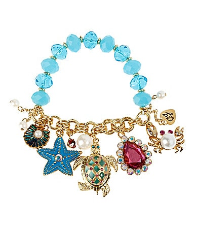 Betsey Johnson Sea Excursion Charm Stretch Bracelet