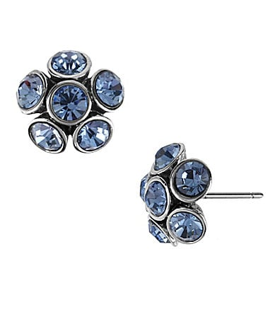 Betsey Johnson Iconic Bonjour Butterfly Fireball Flower Stud Earrings
