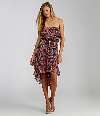 GB Floral-Print Hi-Low Dress
