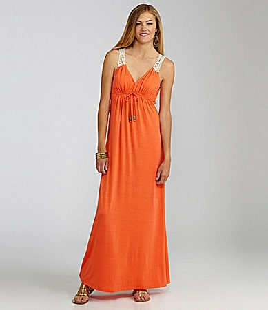 GB V-Neck Knit Maxi Dress