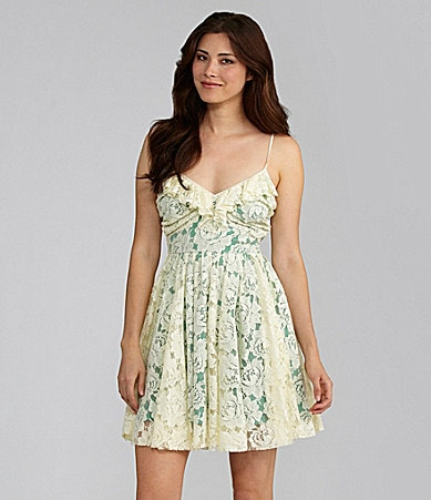 Chelsea & Violet Allover Lace Dress