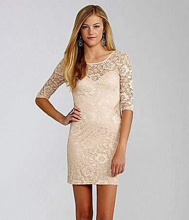 GB 3/4 Sleeve Lace Dress
