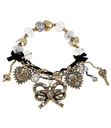Betsey Johnson Iconic Heart of Gold Stretch Bracelet