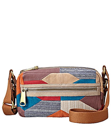 Fossil Explorer Patachwork Top Zip Cross-Body Bag