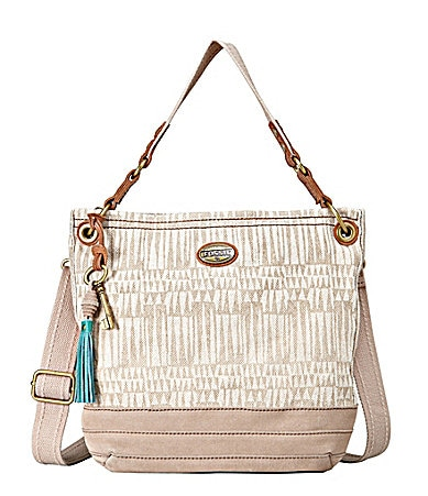 Fossil Campbell Fabric Convertible Hobo