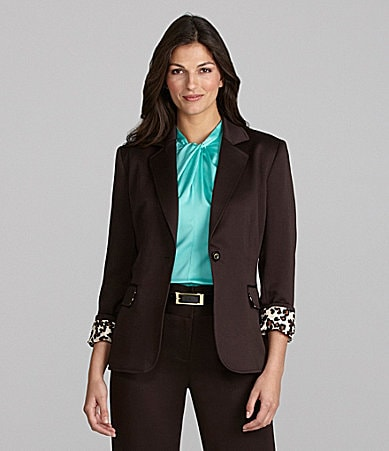 Alex Marie Dawna Satin-Faced Jacket