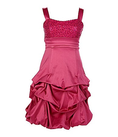 Ruby Rox 7-16 Satin Pick Up Dress