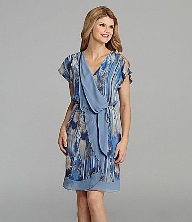 Antonio Melani Colette Faux-Wrap Dress