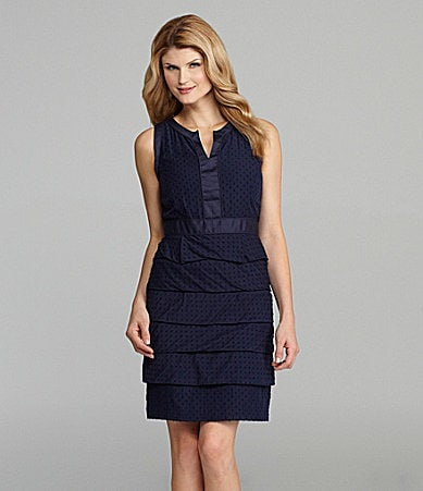 Antonio Melani Tieran Tiered Dot Dress