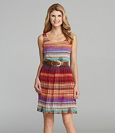Antonio Melani Glenda Pleated Print Dress