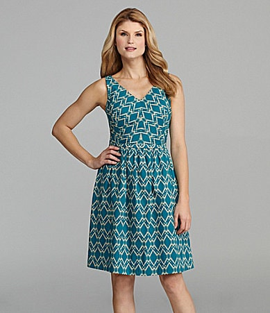 Antonio Melani Cai Ikat-Print Dress