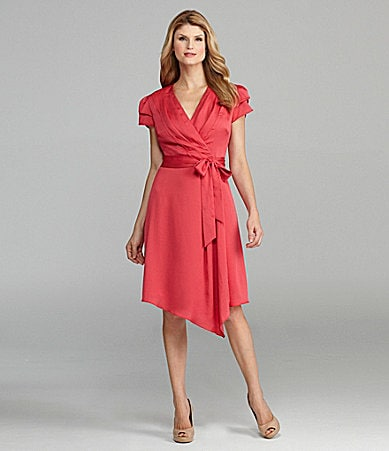Antonio Melani Jeanne Satin Wrap Dress