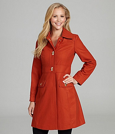 Jessica Simpson Toggle-Front Walking Coat