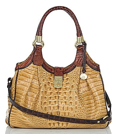 Brahmin Praline Tri-Color Collection Elisa Hobo Bag