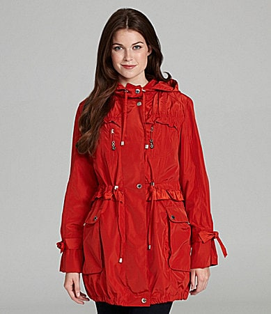 Betsey Johnson Ruffle Faux-Fur-Lined Anorak Jacket