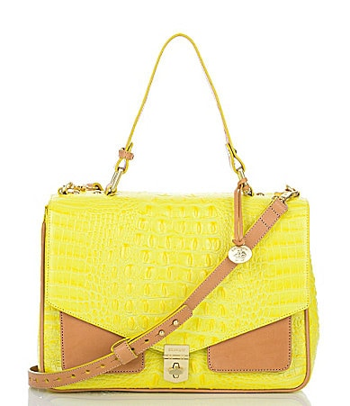 Brahmin Colorblock Nicolette Convertible Satchel