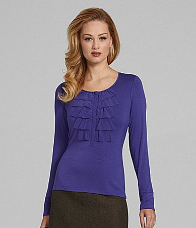 Antonio Melani Mary Ruffle Top