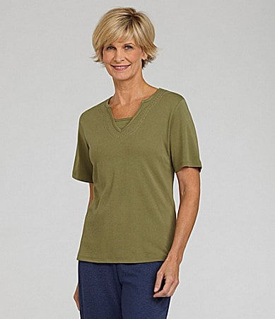 Allison Daley Splitneck Knit Top