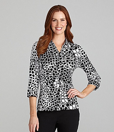 TanJay Circles-Print Button-Front Shirt