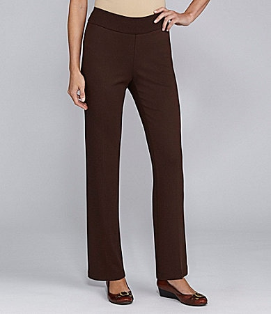 TanJay Slim-Leg Pull-On Ponte Pants