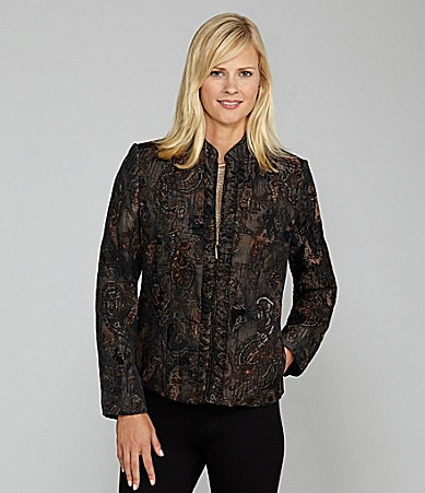 TanJay Woman Brocade Mandarin-Collar Jacket