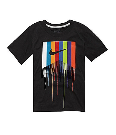 Nike Action 8-20 Dripping Paint Logo Tee