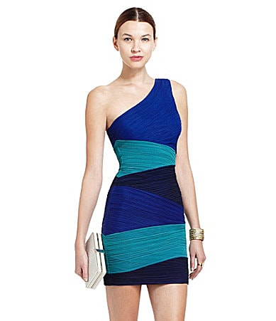 BCBGMAXAZRIA Kira One-Shoulder Dress