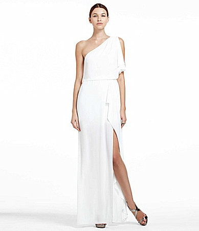 BCBGMAXAZRIA Kendal One-Shoulder Gown
