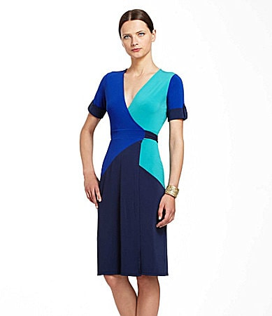BCBGMAXAZRIA Caitlin Colorblock Dress